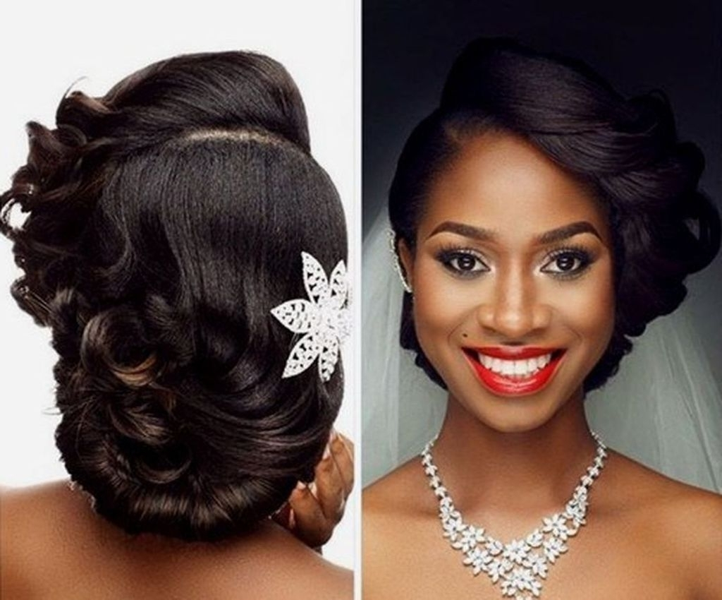75 Easy But Cute African American Wedding Hairstyles Ideas To Makes In Well Liked Wedding Hairstyles For Long Hair African American (View 2 of 15)