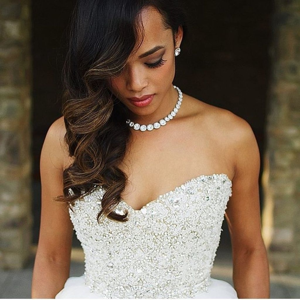 75 Stunning African American Wedding Hairstyles Ideas For Memorable For Popular Over One Shoulder Wedding Hairstyles (View 8 of 15)