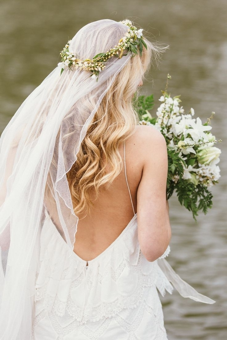9 Boho Hairstyles For Summer Brides — Wedpics Blog Inside Most Current Wedding Hairstyles With Veil And Flower (Gallery 9 of 15)