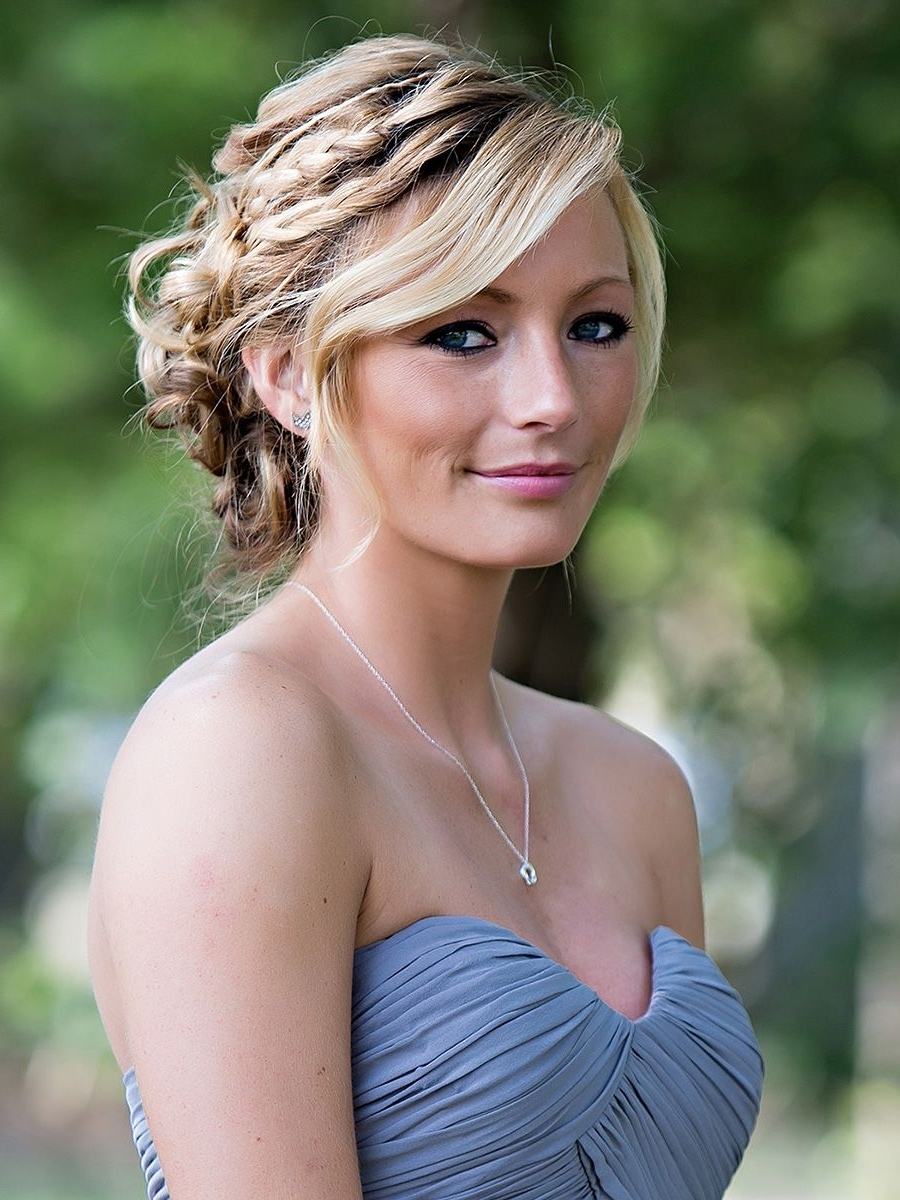 A Relaxed Braided Updo Frames The Face And Looks Stunning (View 1 of 15)