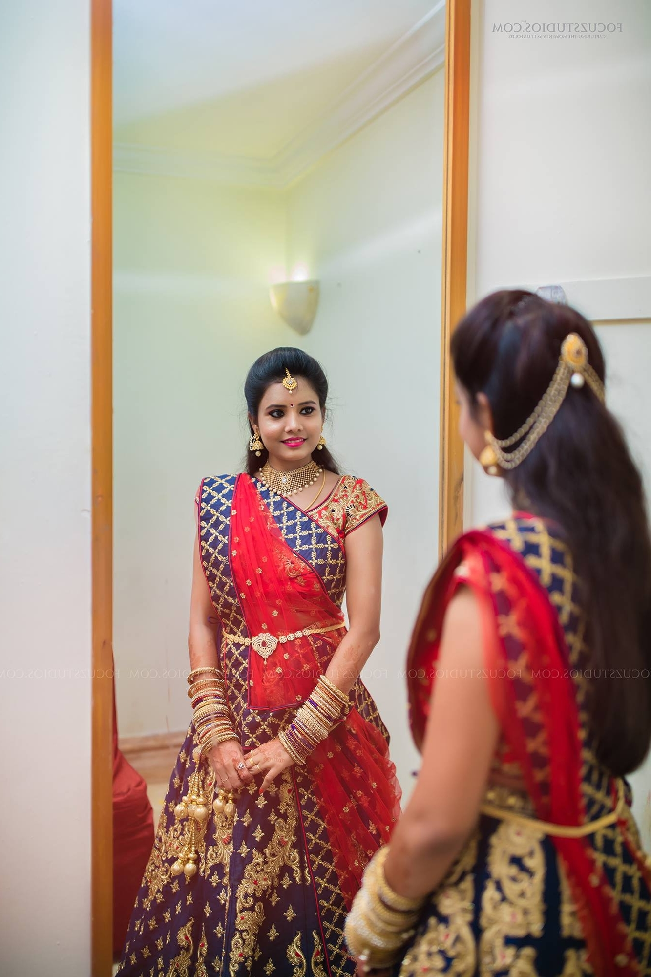 Adorable Hairstyle For Bride South Indian Wedding With Additional Throughout Famous Wedding Reception Hairstyles For Saree (View 1 of 15)