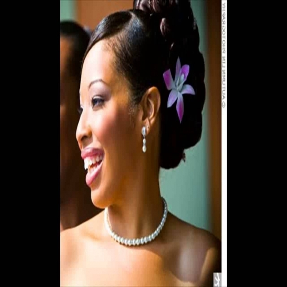 African American Flower Girl Wedding Hairstyles Youtube With The With Trendy Updos African American Wedding Hairstyles (View 1 of 15)