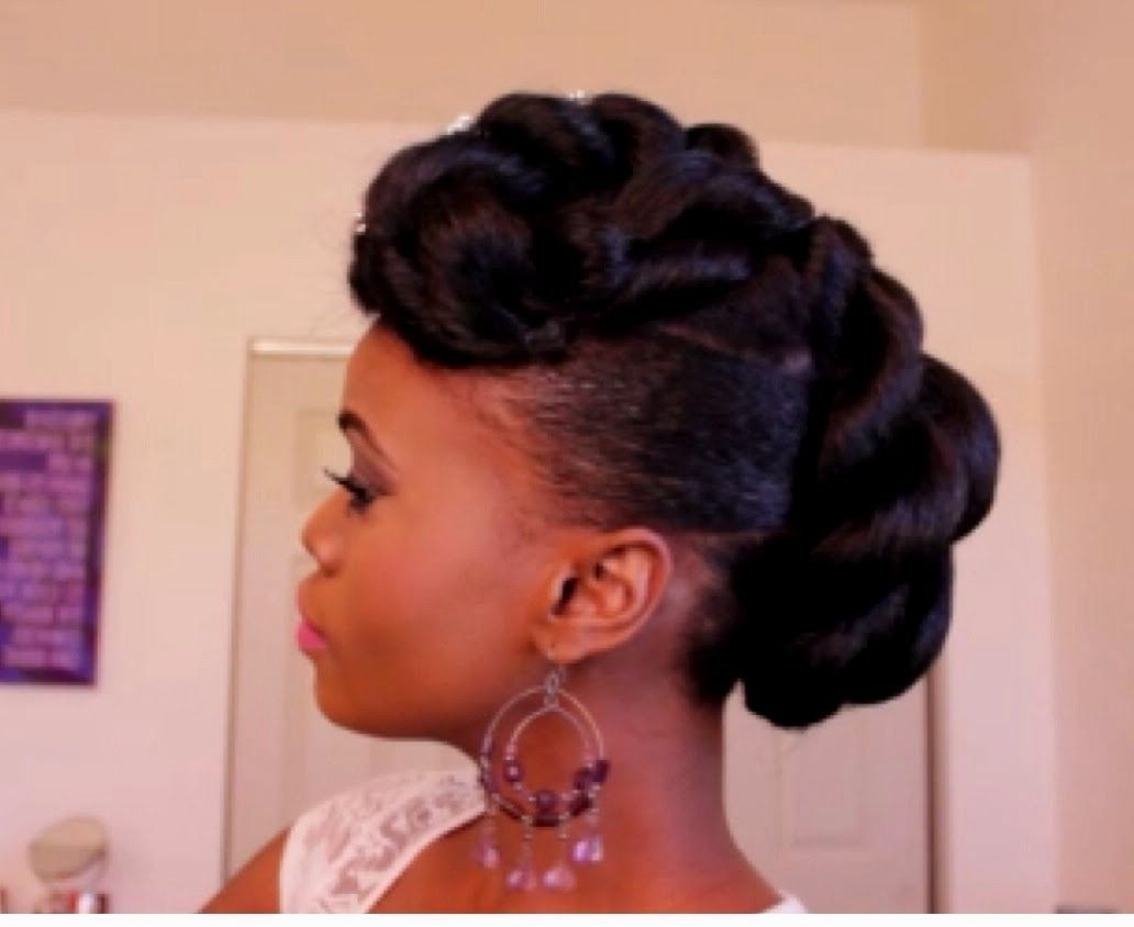 African American Updo Wedding Hairstyles – Wedding Decor And Design Within Latest Wedding Hairstyles For Natural African American Hair (View 5 of 15)