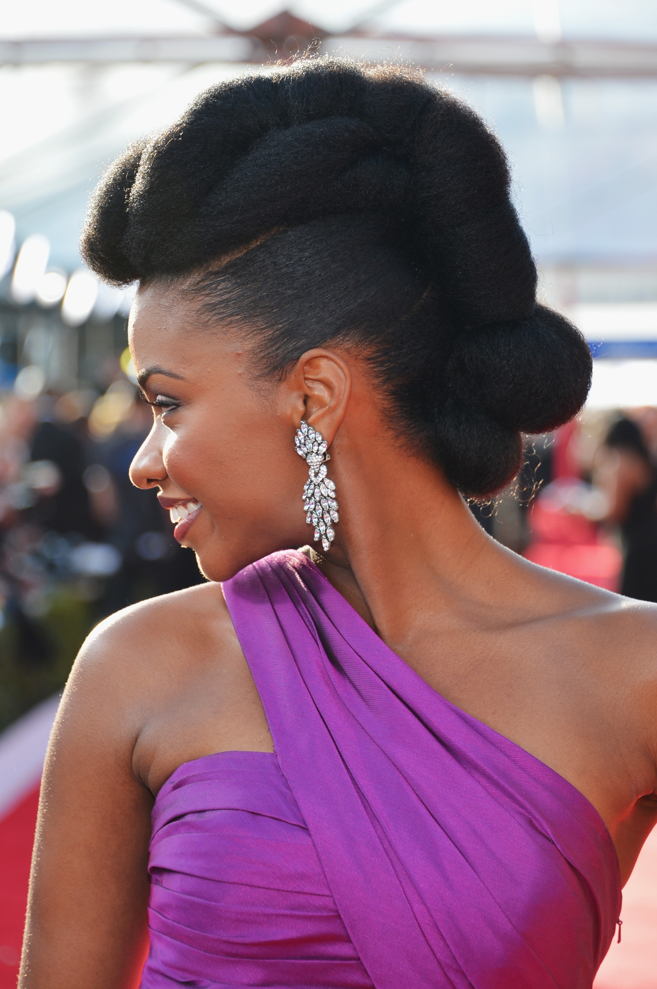 African American Wedding Hairstyles In Accordance With Thicker Hair Intended For Newest Wedding Hairstyles For Natural African American Hair (View 4 of 15)