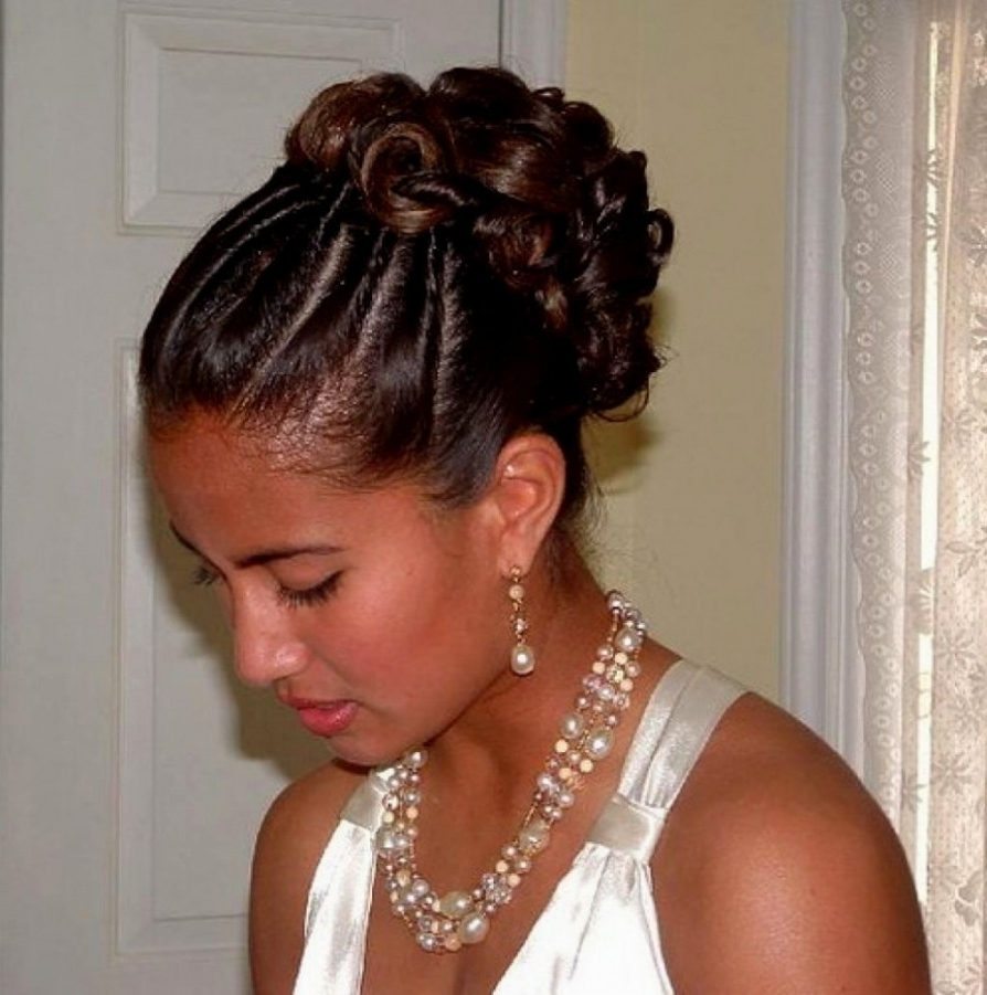 African American Wedding Updo Hairstyles Fresh Black Wedding With Regard To Best And Newest Updos African American Wedding Hairstyles (View 2 of 15)