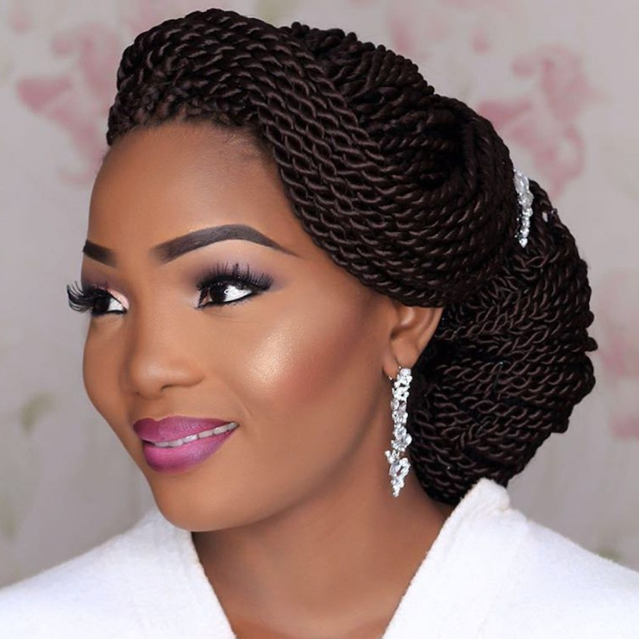 Black Braided Wedding Hairstyles: 15 Best Collection Of African Wedding Braids Hairstyles