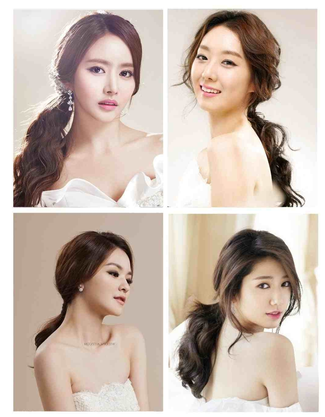 Amazing Korean Latest Hairstyle For The Big River Of Wedding Asian Pertaining To Well Known Korean Wedding Hairstyles For Long Hair (View 4 of 15)