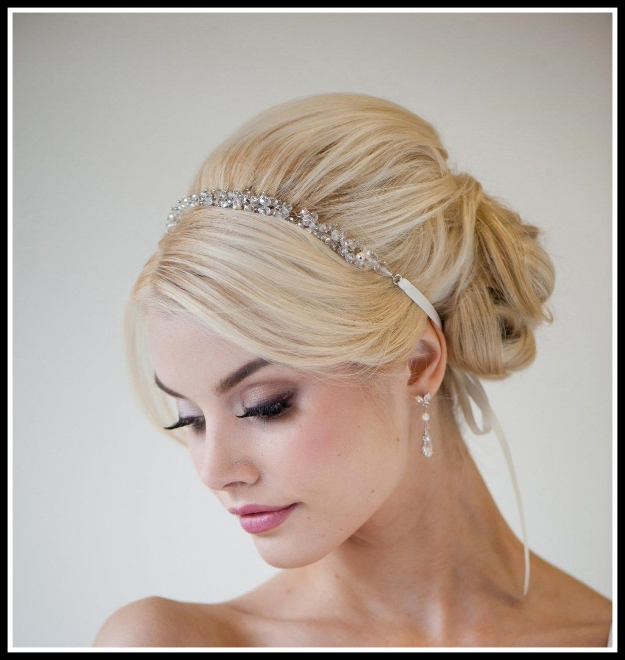 Amazing Medium Length Wedding Hairstyles With Headband Picture For Intended For Recent Wedding Hairstyles For Long Hair With Headband (View 8 of 15)