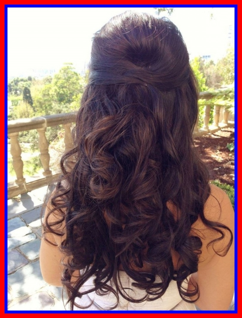 Amazing Wedding Curly Hair Half Up Fresh Hairstyle For Image Of Long With Best And Newest Half Up Wedding Hairstyles Long Curly Hair (View 1 of 15)