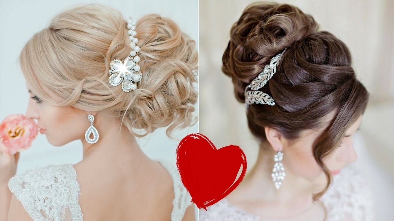 Amazing Wedding Hairstyles Compilation 2017 From Wedding Collection Regarding 2017 Wedding Hairstyles (Gallery 7 of 15)