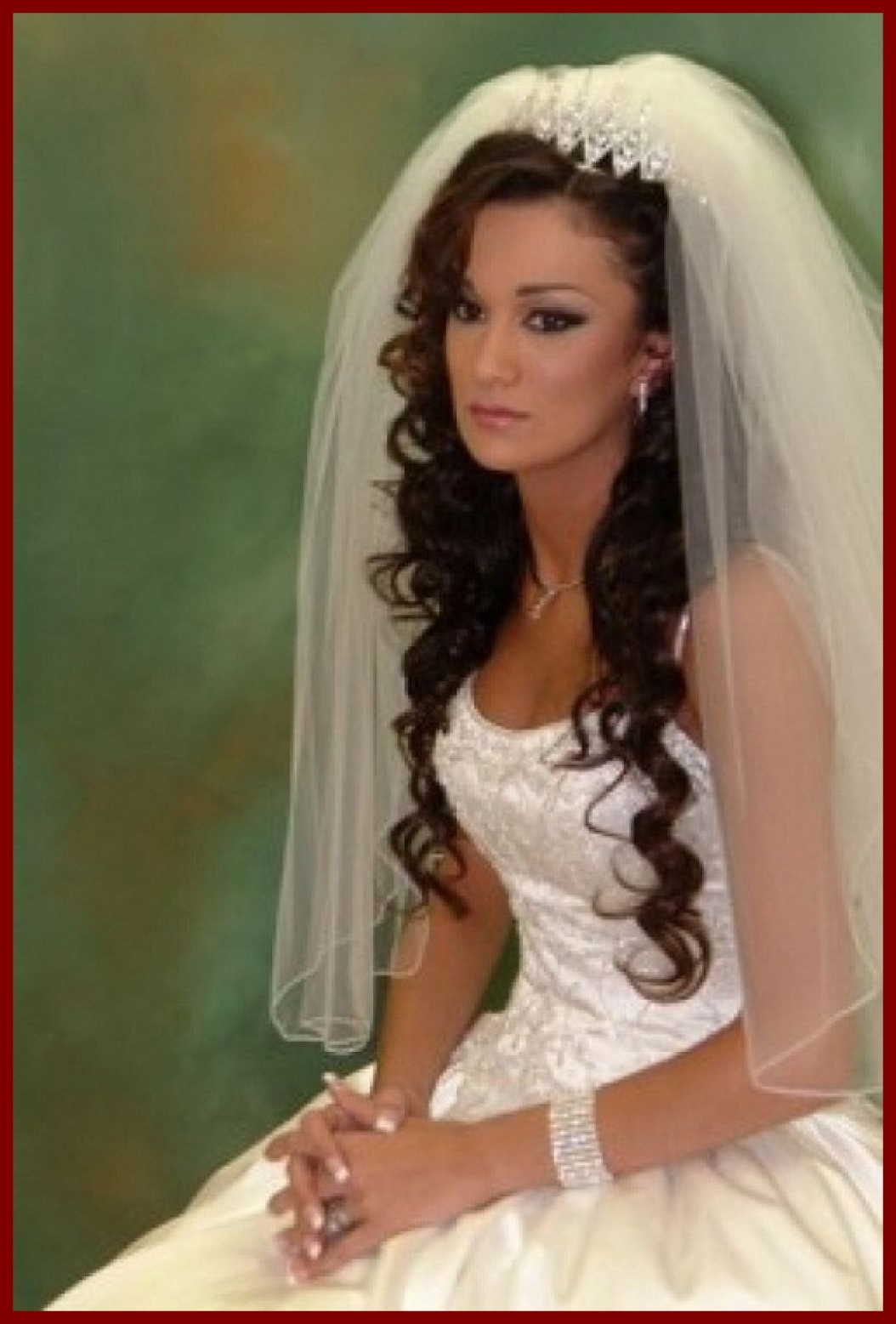 Amazing Wedding Hairstyles Updo With Veil And Image For Long Hair Regarding Current Wedding Updos For Long Hair With Tiara (Gallery 14 of 15)