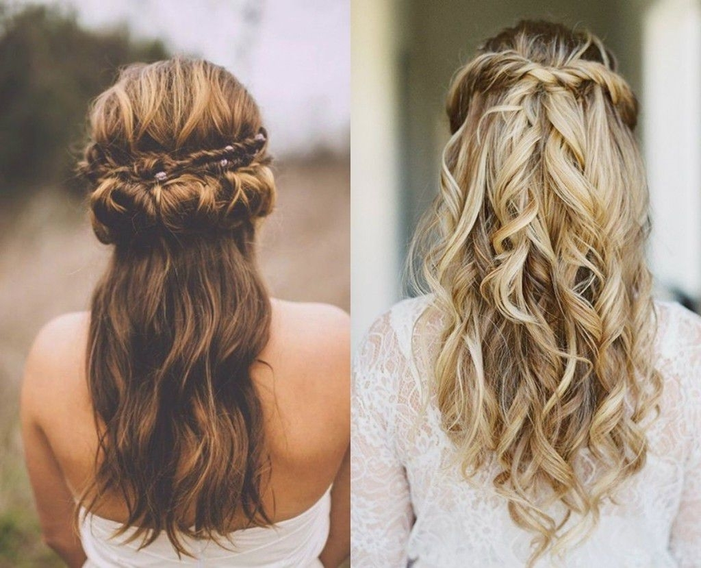 Appealing Wedding Hairstyles Top Half Updo Long Hair For Medium Intended For Well Liked Half Up Medium Length Wedding Hairstyles (View 2 of 15)