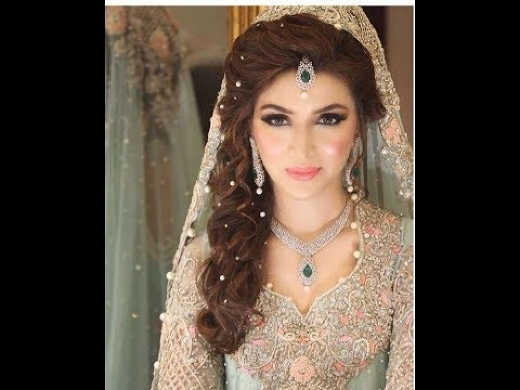 Asian Bridal Hairstyles Stylish And Trendy Pakistani Bridal Wedding Pertaining To Fashionable Pakistani Wedding Hairstyles (View 12 of 15)