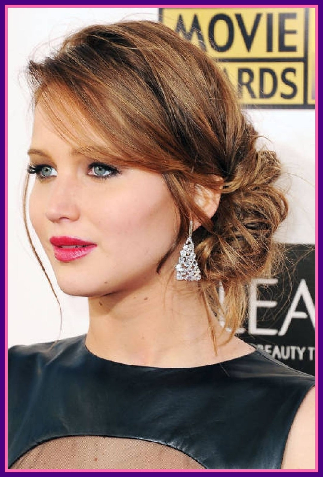 Photo Gallery Of Curly Side Bun Wedding Hairstyles Viewing 6 Of 15