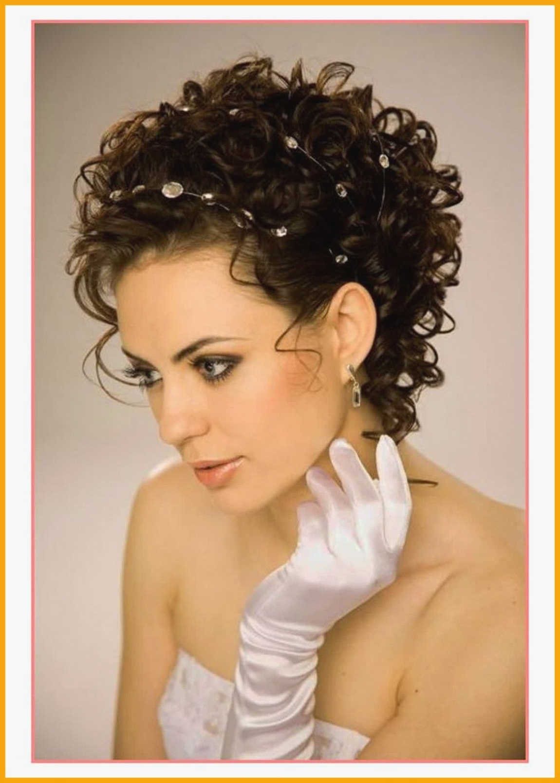 Astonishing Cute Wedding Hairstyles For Short Curly Hair Styles With Trendy Wedding Hairstyles For Short Curly Hair (View 4 of 15)