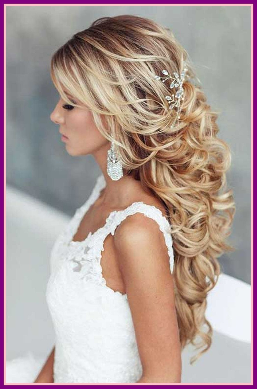 Astonishing Hairstyle Idea For Your Wedding Pic Of Long Curly Hair For Latest Wedding Hairstyles For Long Curly Hair (View 10 of 15)
