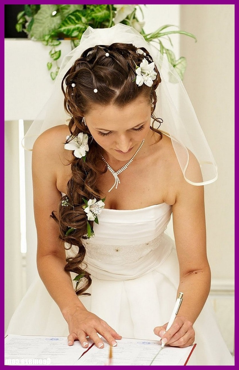 Astonishing Half Up Wedding Hairstyles With Veil Styles Pics For In Well Known Wedding Hairstyles For Long Hair Half Up With Veil (View 3 of 15)