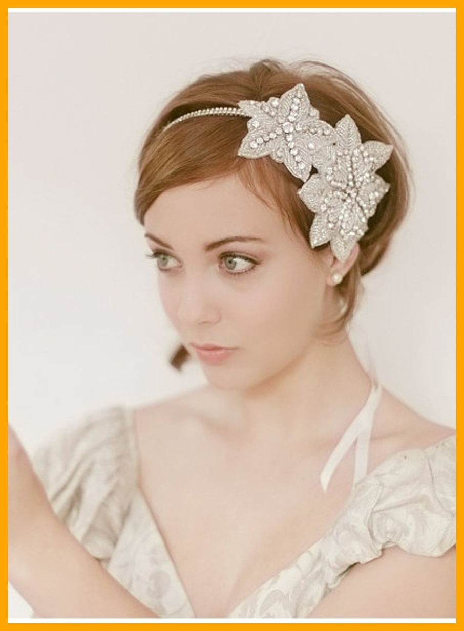 Astonishing Wedding Hairstyles Short Thin Hair Bride In Pic Of With Intended For Well Liked Wedding Hairstyles For Short Hair And Veil (View 3 of 15)