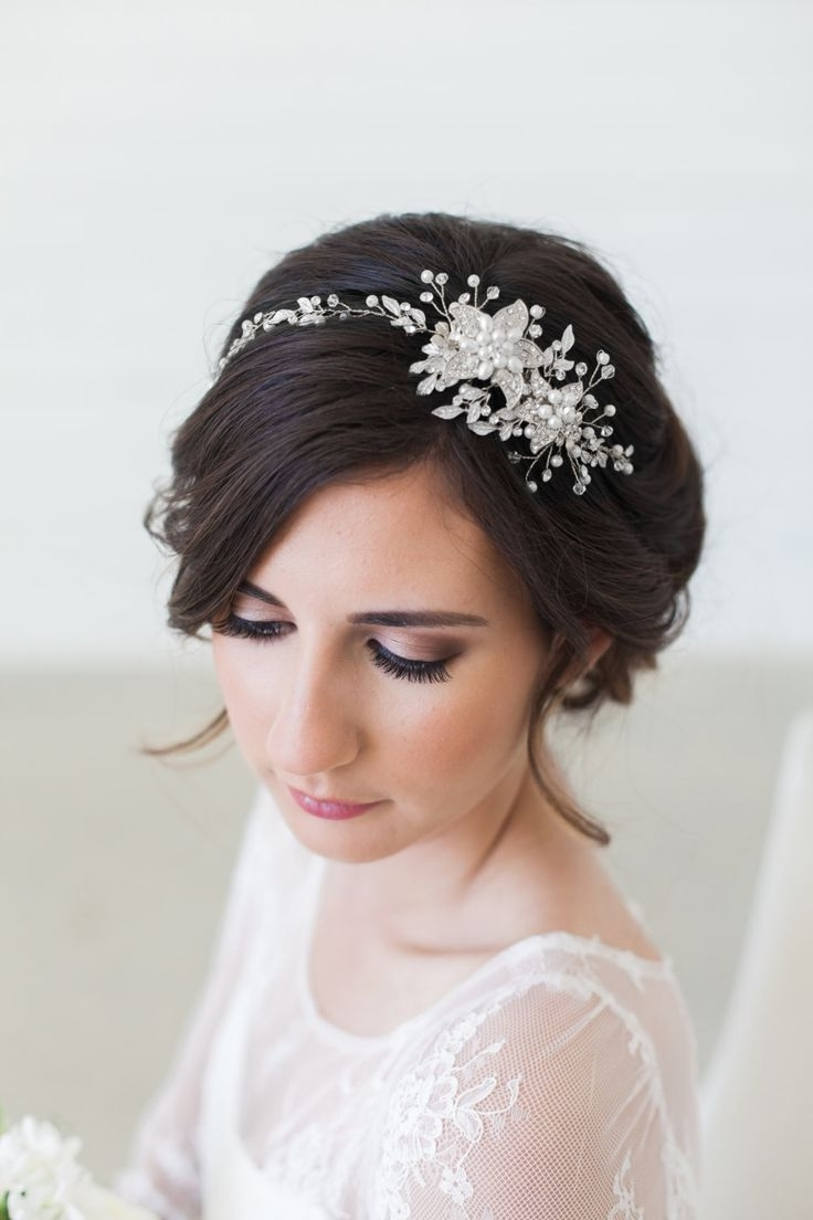Astounding Wedding Hairstyles With Headpiece Ideasand On Forehead With 2018 Wedding Hairstyles With Headband And Veil (View 9 of 15)