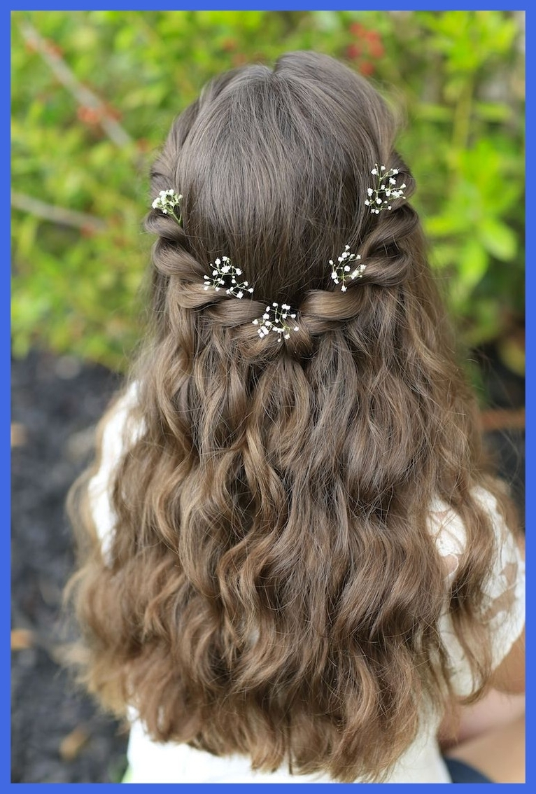 Awesome Best Sac School Hairstyle Pic For Wedding Long Hair Kids Pertaining To Famous Wedding Hairstyles For Kids (View 3 of 15)