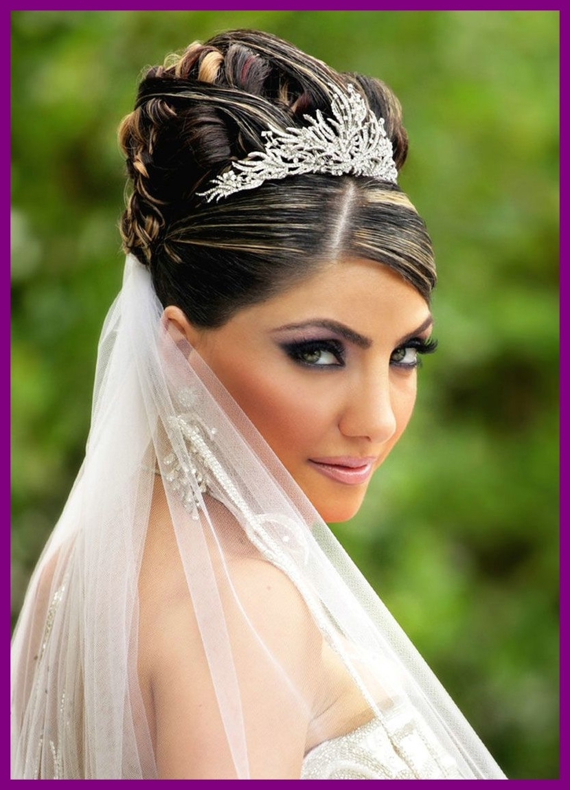Awesome Bride With Veil And Tiara Wedding Hairstyle Ideas Of Black Intended For 2017 Tiara Wedding Hairstyles (View 1 of 15)