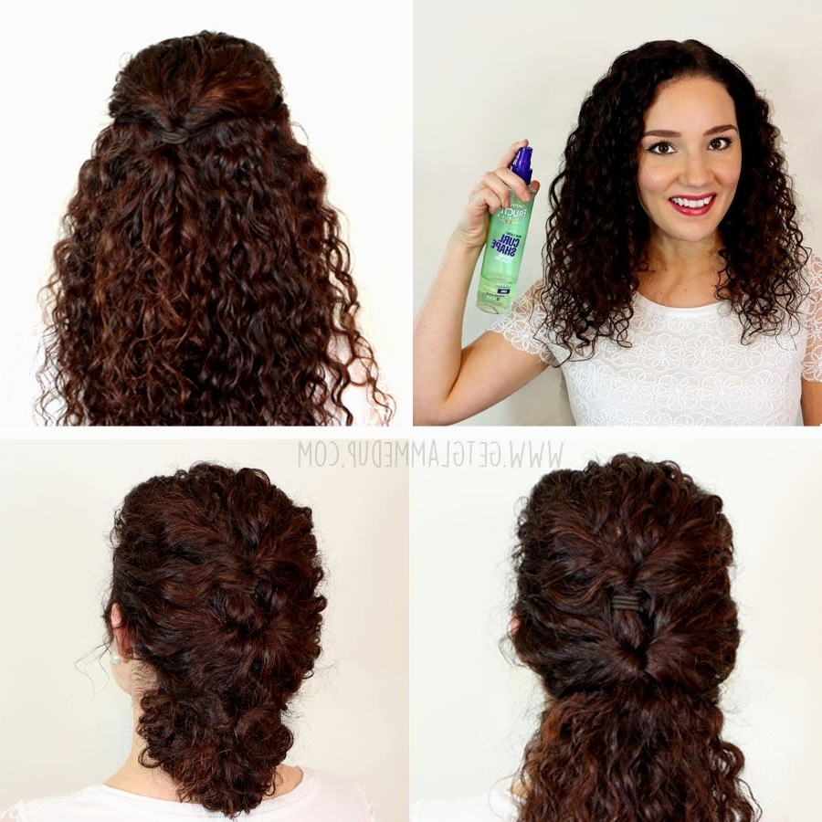 15 Best Ideas Of Easy Wedding Hairstyles For Long Curly Hair