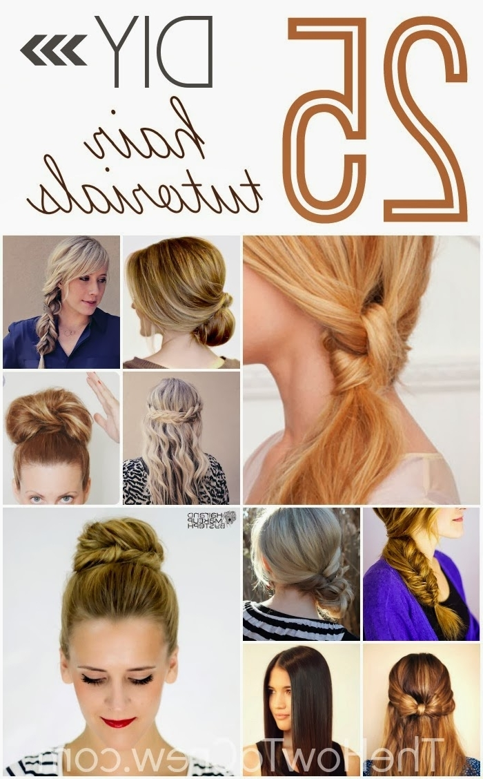 Awesome Easy To Do Hairstyles For Medium Length Hair At Home Lark Regarding Well Known Do It Yourself Wedding Hairstyles For Medium Length Hair (View 7 of 15)