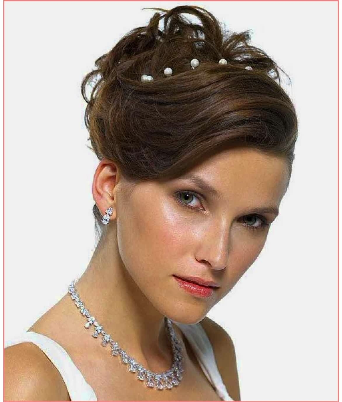 Awesome Hairstyles Wedding Hairstyles For Short Hair And Round Face Within Widely Used Wedding Hairstyles For Short Hair And Round Face (View 10 of 15)