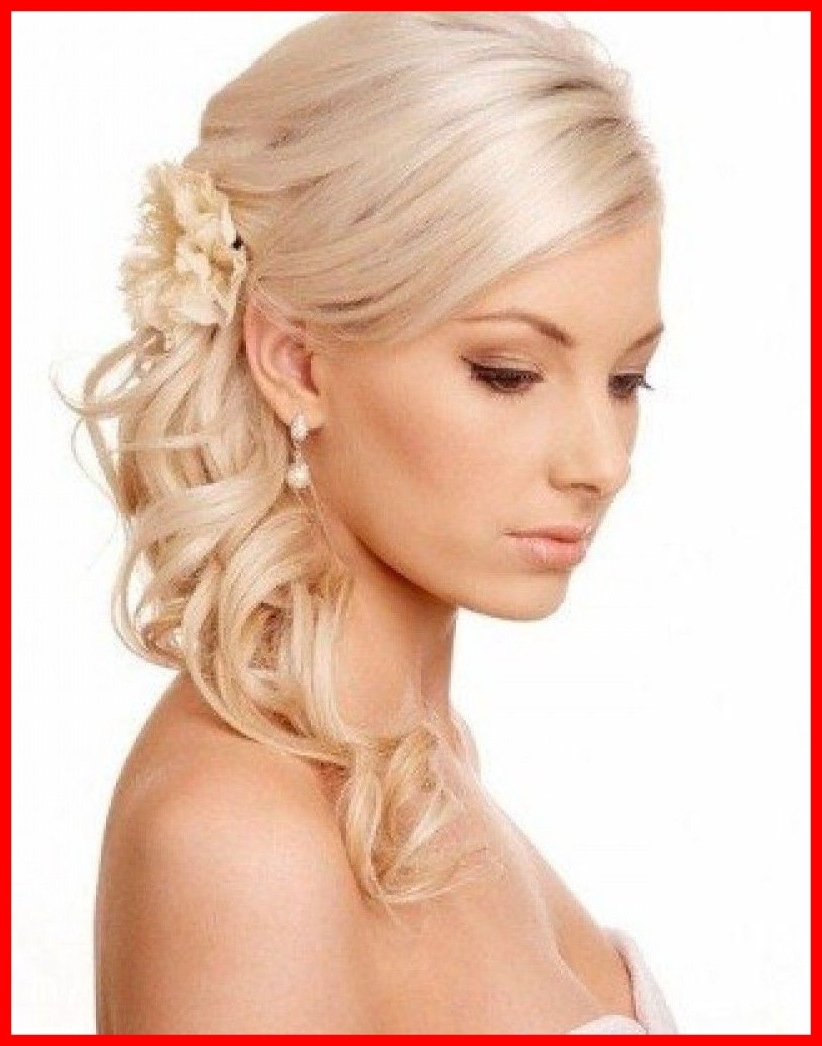 Awesome Medium Length Hairstyles Thin Hair Side Ponytail Curly All For Popular Wedding Hairstyles For Shoulder Length Thin Hair (Gallery 5 of 15)