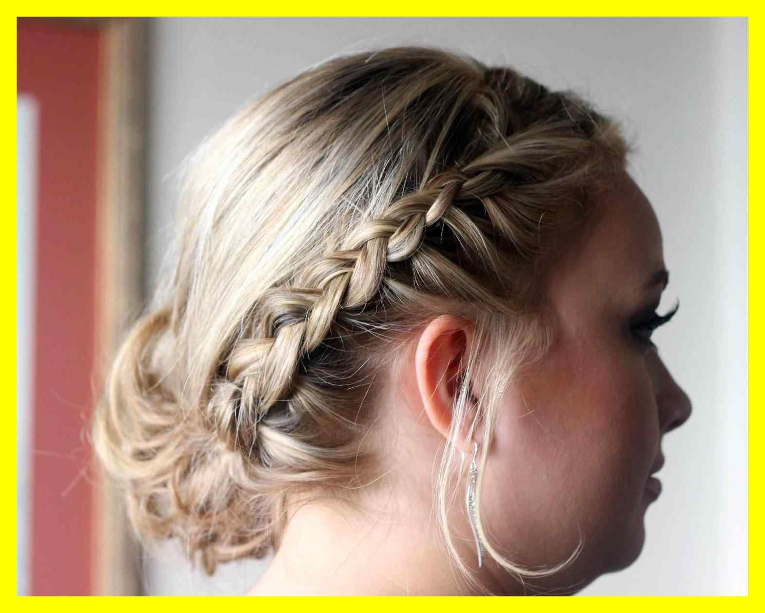 Awesome Quick Wedding Hairstyles Updo To The Side For Prom Or Pic Of Intended For Preferred Quick Wedding Hairstyles (View 7 of 15)