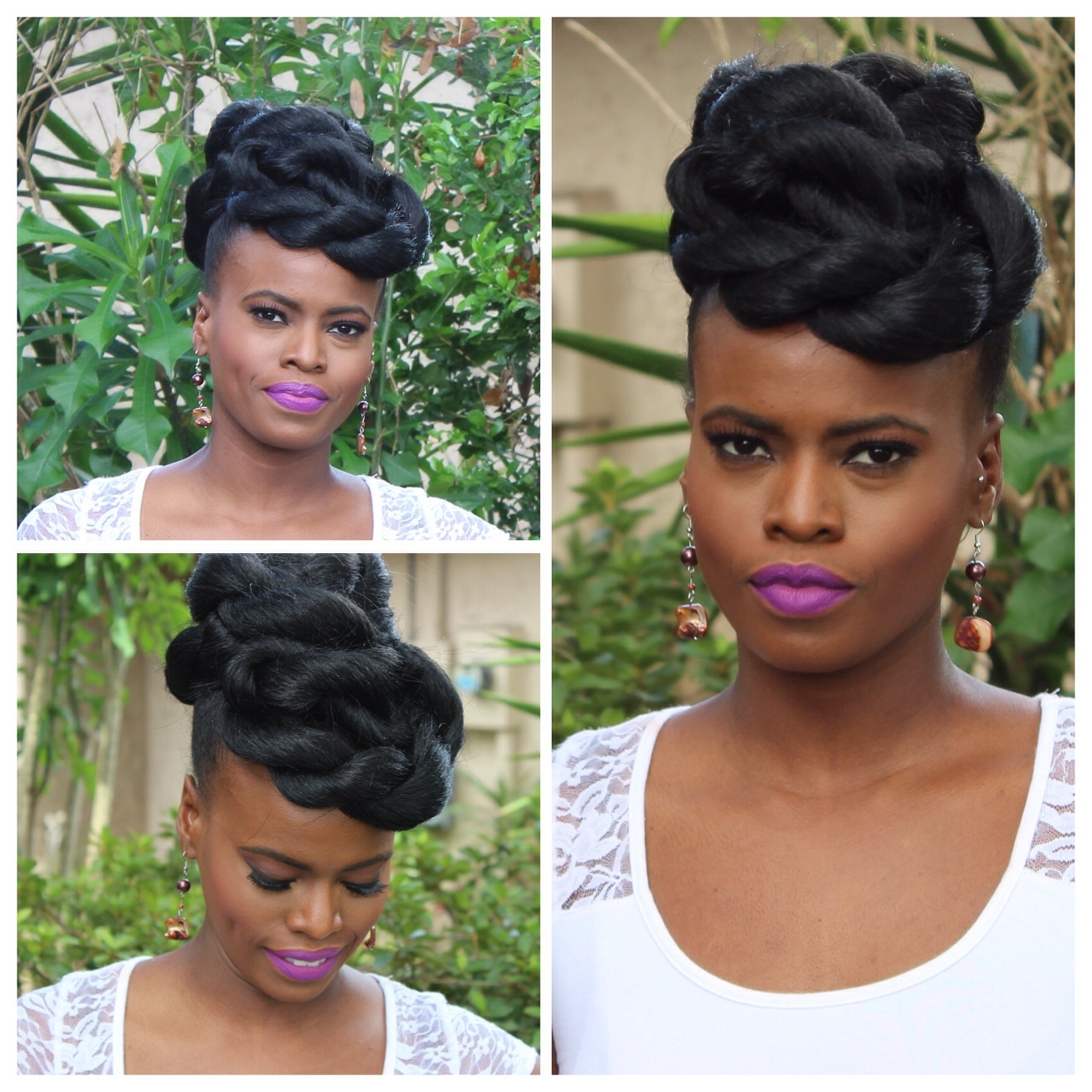 Awesome Wedding Hairstyles For Natural Black Hair (View 6 of 15)