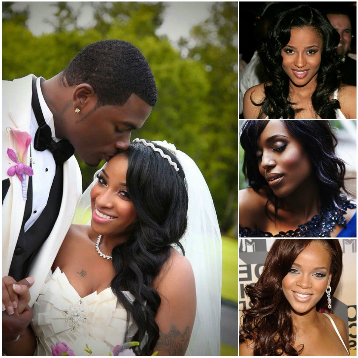 Photo Gallery Of Wedding Hairstyles For Long Relaxed Hair Viewing 1