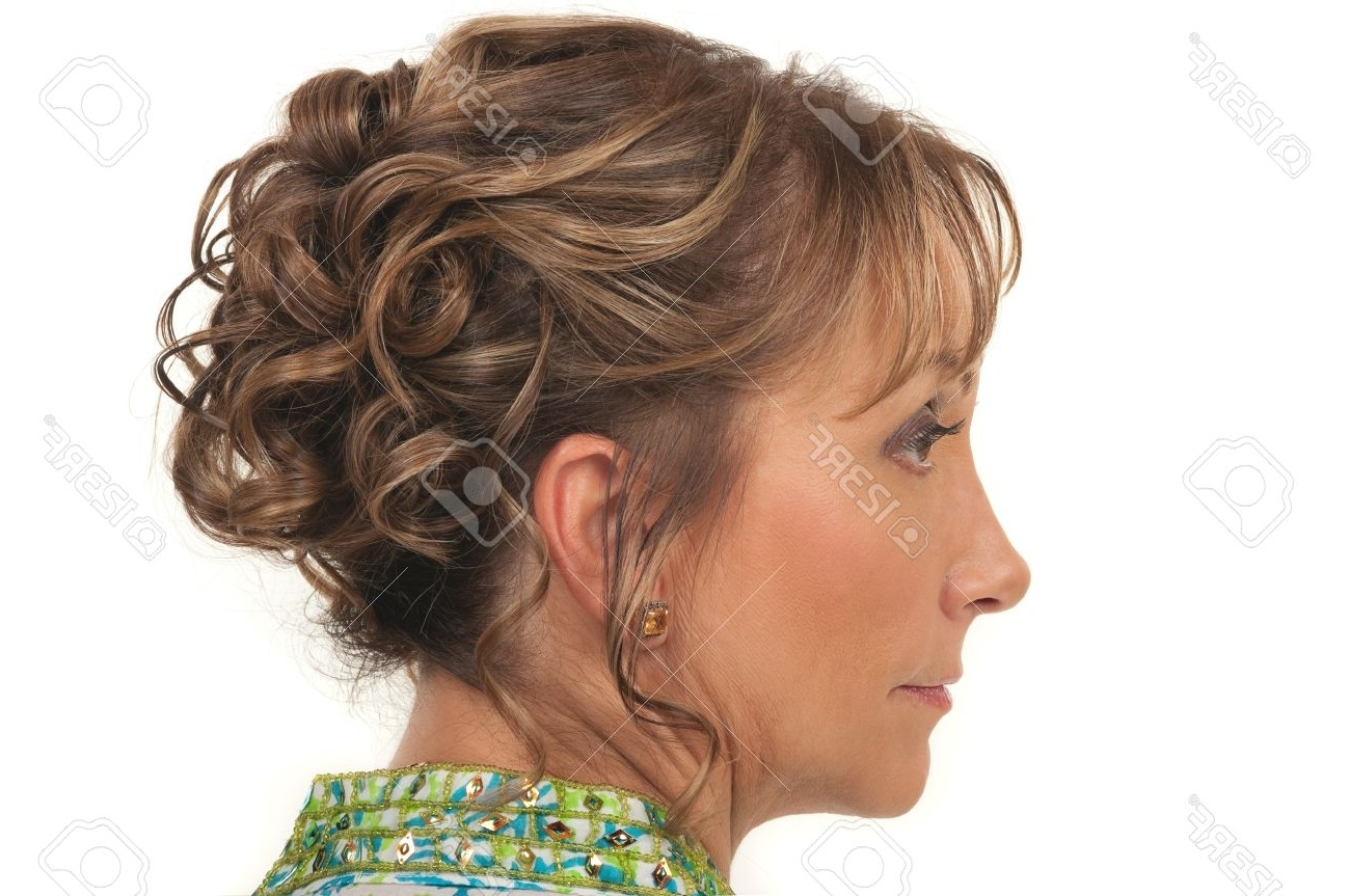 Beautiful Hairstyle For A Party Or Wedding For Older Women Stock With Regard To Trendy Wedding Hairstyles For Older Ladies With Long Hair (View 3 of 15)
