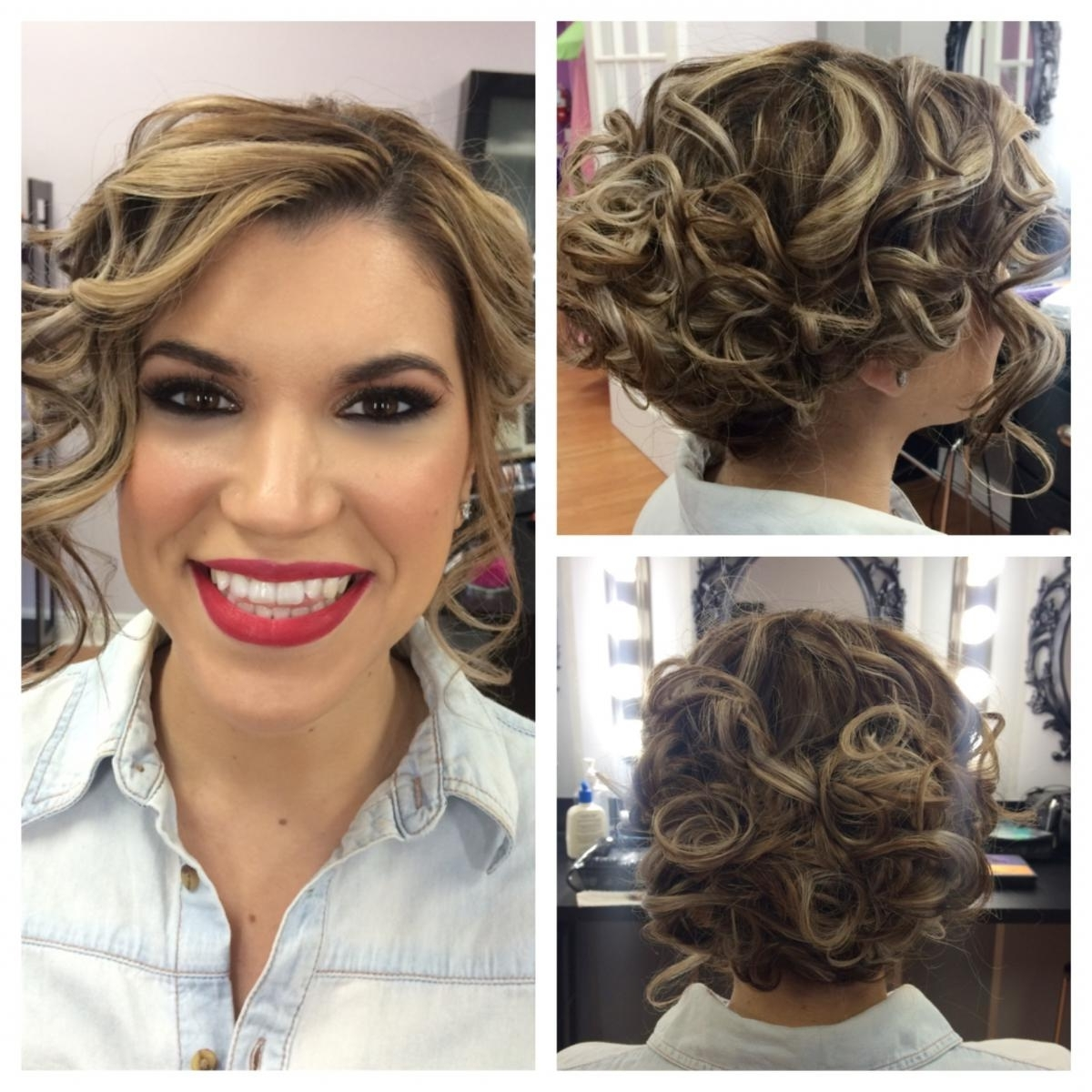 Beautiful Short Hairstyles For Weddings For Bridesmaids Contemporary With Most Up To Date Short Wedding Hairstyles For Black Bridesmaids (View 3 of 15)