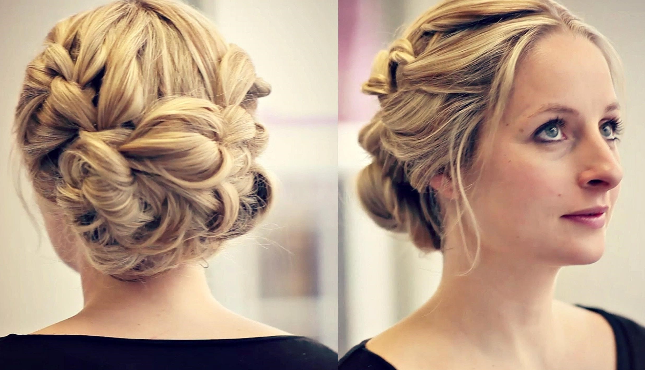 Beautiful Simple Updos For Wedding Hairstyle Indian Party Video Pertaining To Well Liked Beach Wedding Hairstyles For Short Hair (View 6 of 15)