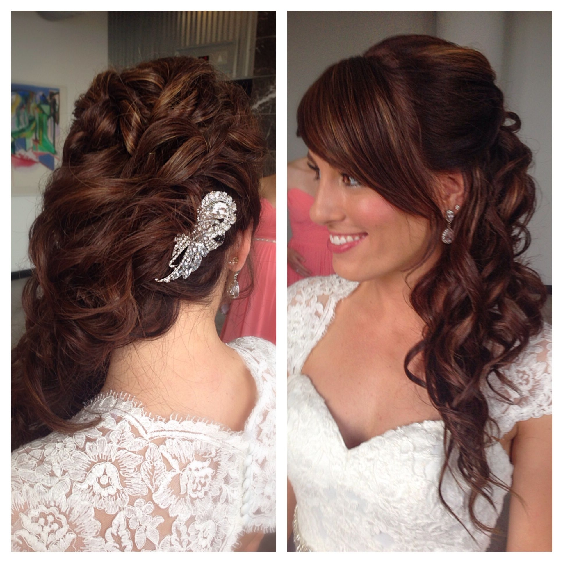 Beautiful Wedding Hair, Wavy Curls, Pulled To The Side Up Do Pertaining To Well Known Pulled To The Side Wedding Hairstyles (View 1 of 15)