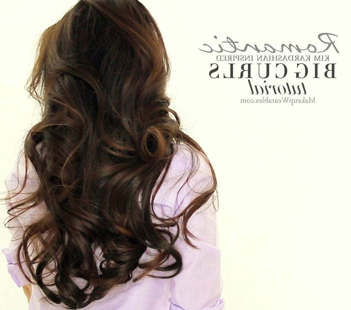 Best And Newest Big Curls Wedding Hairstyles With Big Curly Hairstyle Tutorials Video Prom Wedding For School Loose (View 14 of 15)