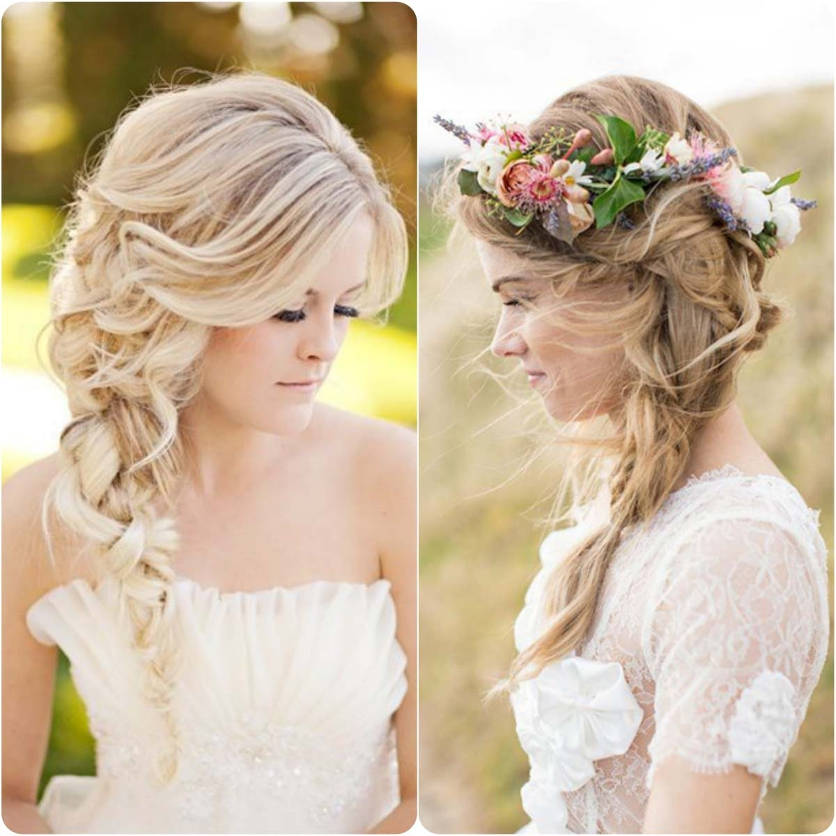 Best And Newest Braided Wedding Hairstyles Throughout Sideraid Hairstyles For Weddings Hairstyle Indian Wedding Fishtail (View 14 of 15)