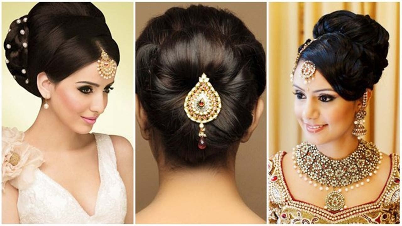 Best And Newest Classic Wedding Hairstyles For Short Hair Intended For Indian Bun Hairstyles For Medium Hair (View 11 of 15)