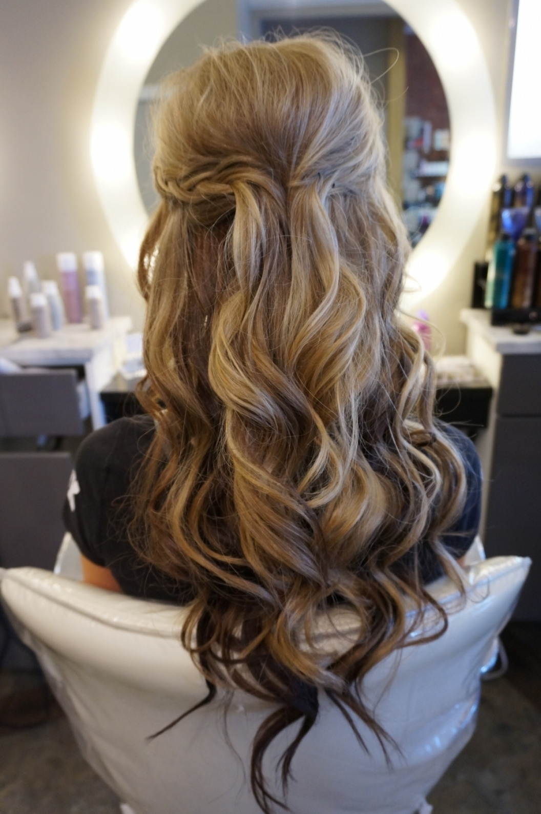 Best And Newest Half Updo Wedding Hairstyles Throughout Adorable Bride Half Updo Hairstyles With Wedding Hairstyles Half Up (View 4 of 15)