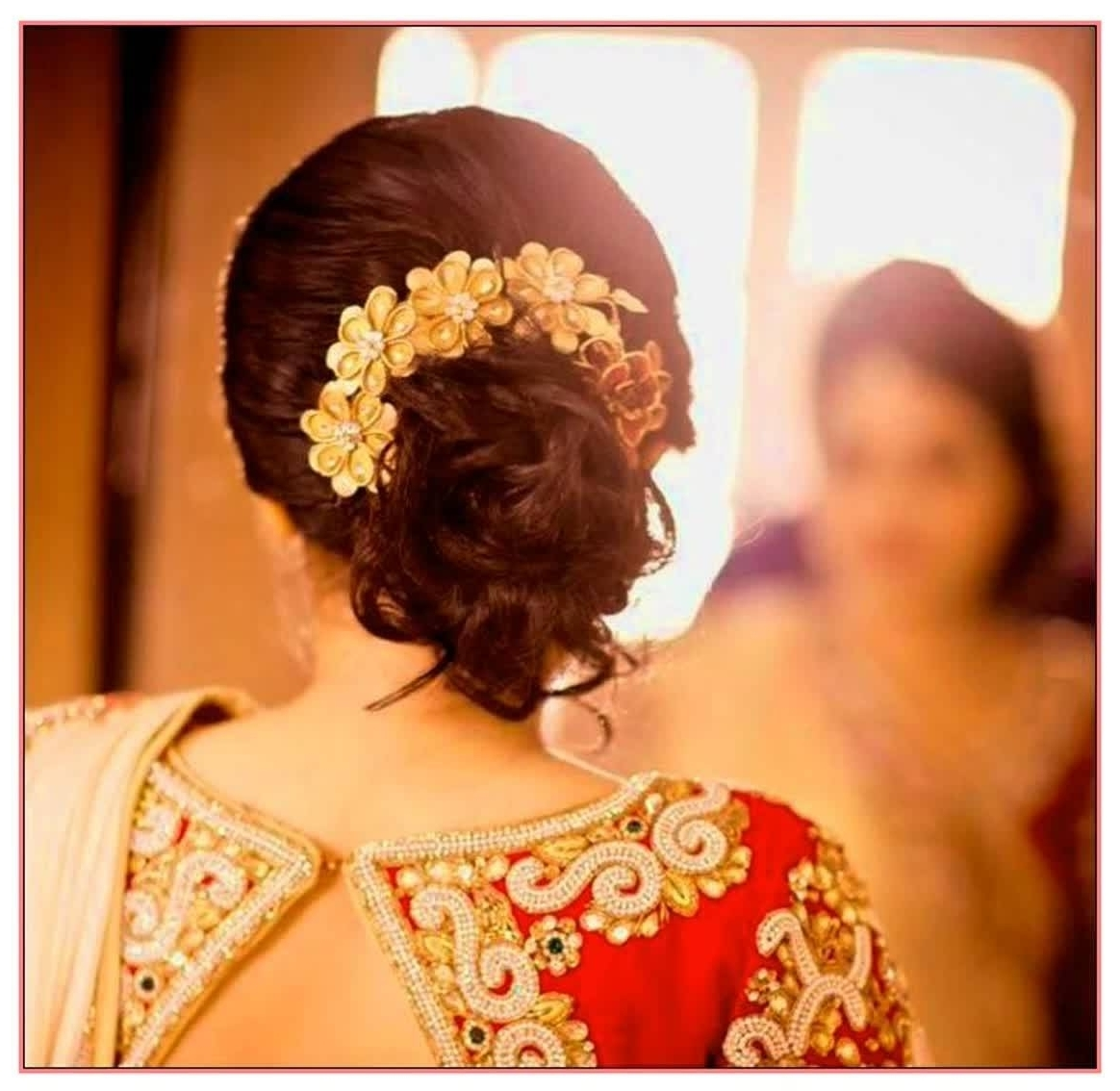 Best And Newest Indian Bun Wedding Hairstyles With Regard To Amazing Hairstyles Messy Bun Hairstyles For Indian Wedding Best (View 12 of 15)