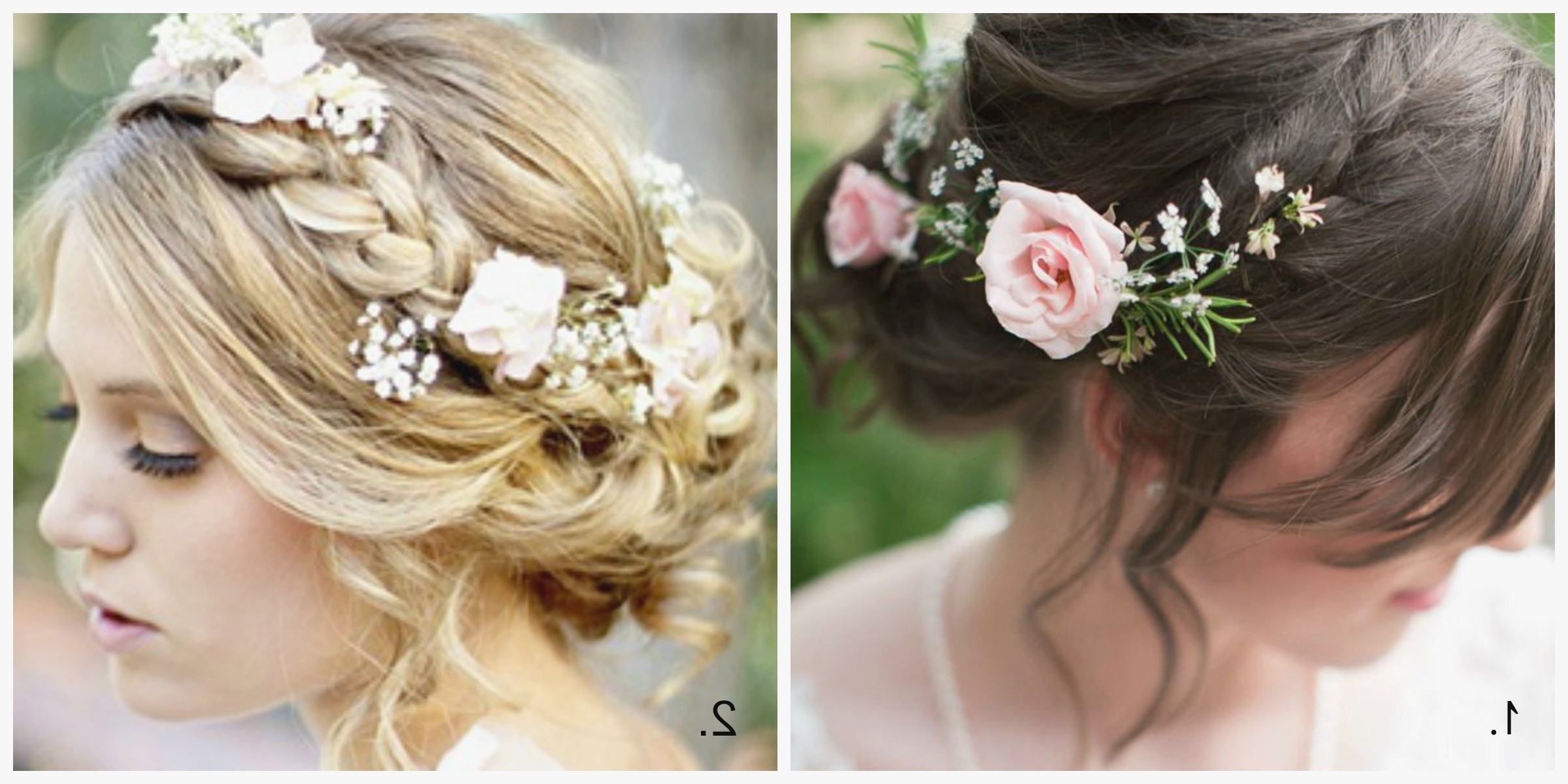 Best And Newest Long Wedding Hairstyles With Flowers In Hair Throughout Beautiful Wedding Hairstyles Best Hair Ideas For A If You Have Short (View 5 of 15)