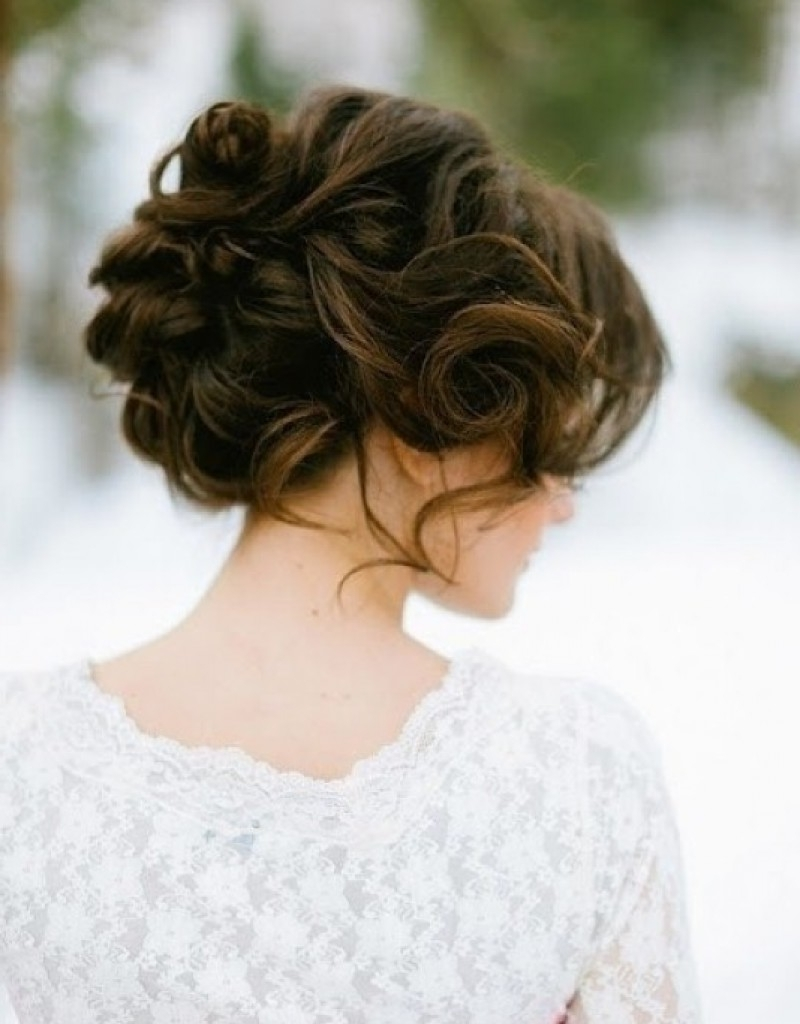 Best And Newest Updos With Curls Wedding Hairstyles Throughout Curly Wedding Hairstyles Updo – Hollywood Official (View 3 of 15)