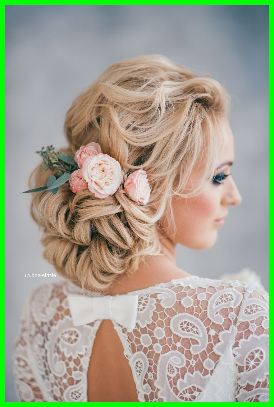 Best And Newest Wedding Hairstyles For Long Hair With Flowers For Fascinating Wedding Hairstyles Tulle U Chantilly Pics For Long Hair (View 6 of 15)