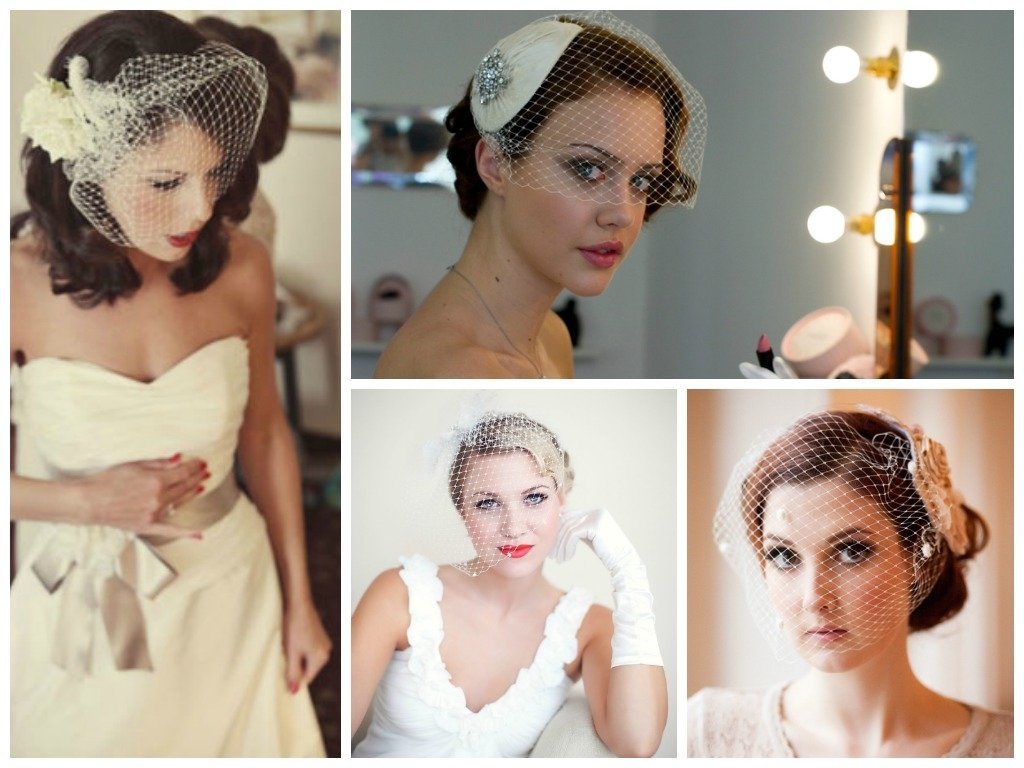 Best And Newest Wedding Hairstyles For Short Hair With Birdcage Veil Within Wedding Hairstyles With A Birdcage Veil – Hair World Magazine (View 4 of 15)