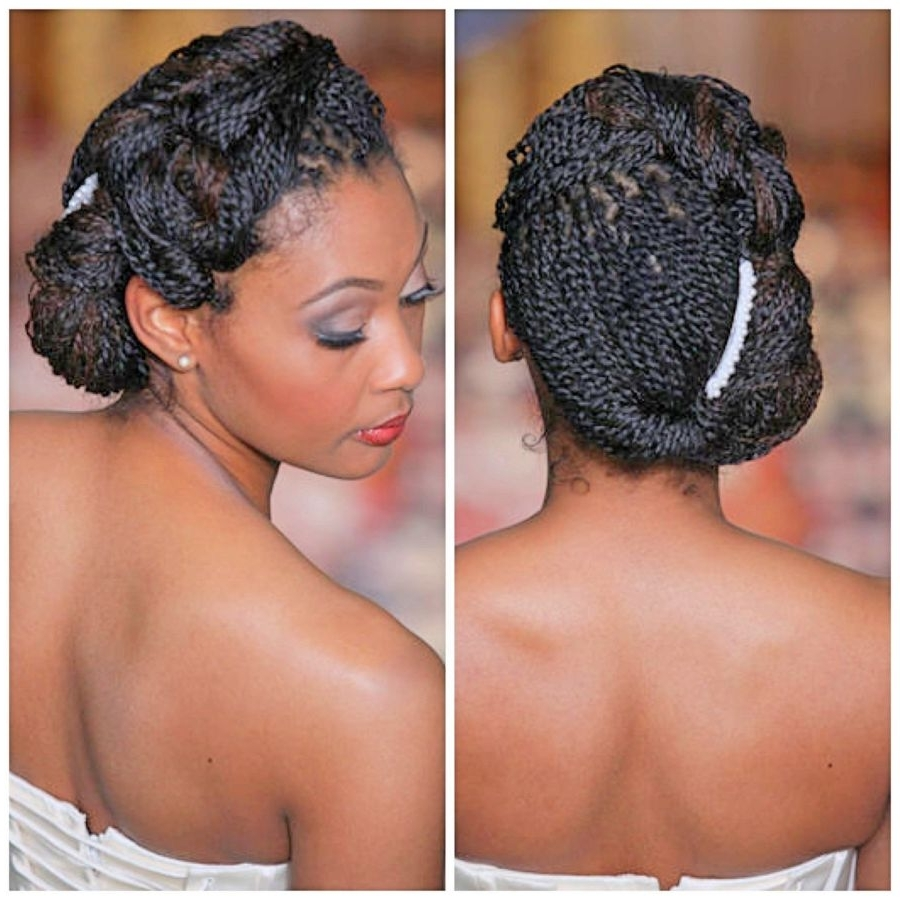 Best And Newest Wedding Hairstyles For Short Kinky Hair With Wedding Hairstyles For Black Glamorous Black Braided Hairstyles For (View 6 of 15)