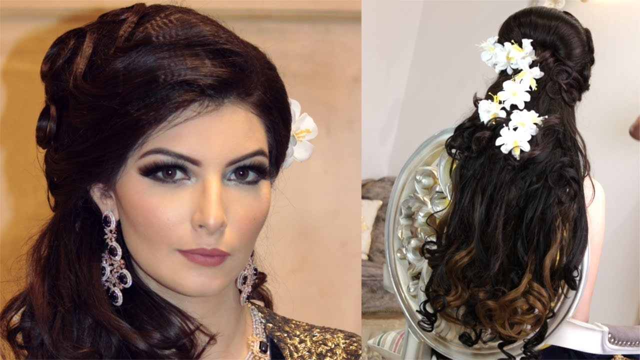 Best And Newest Wedding Reception Hairstyles For Long Hair Pertaining To Luxurious Indian Wedding Reception Hairstyle – Youtube (View 5 of 15)