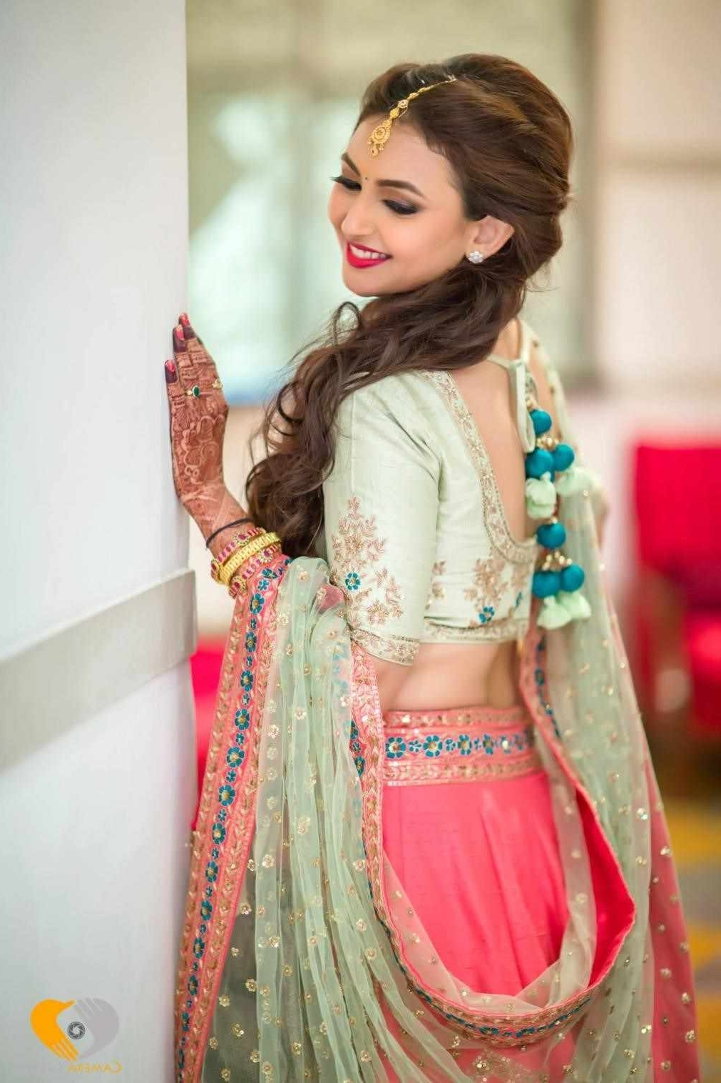 Best Hairstyle For Engagement In Lehenga Hairstyles For Lehenga In Preferred Wedding Hairstyles For Lehenga (View 3 of 15)