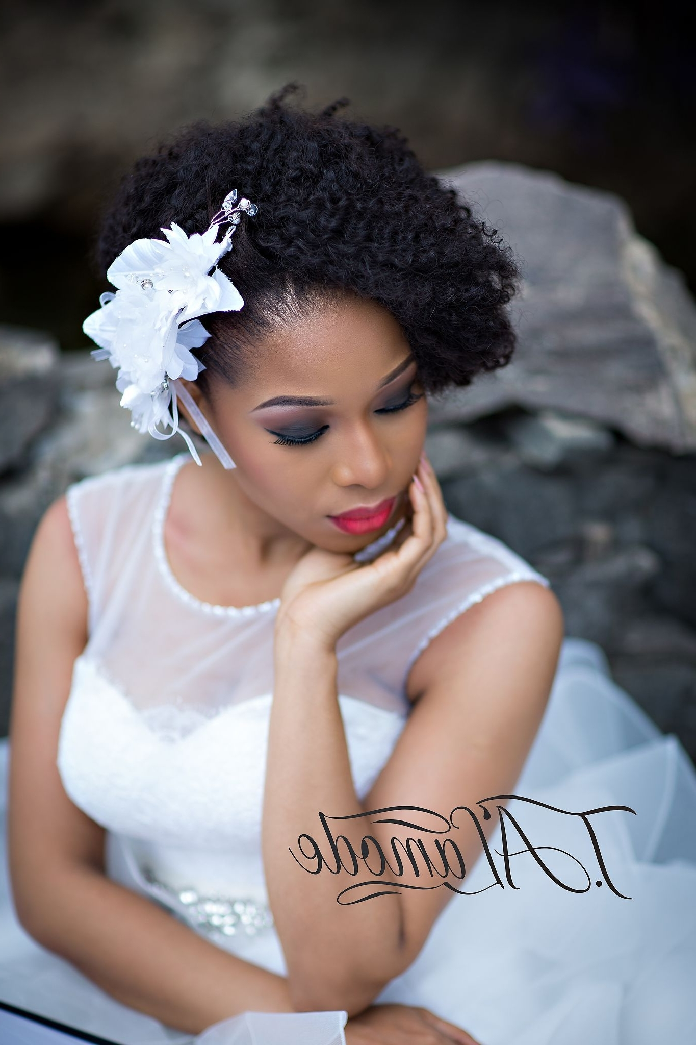 Best Nigerian Bridal Natural Hair And Makeup Shoot Black Bride Of With Trendy Nigerian Wedding Hairstyles For Bridesmaids (View 9 of 15)