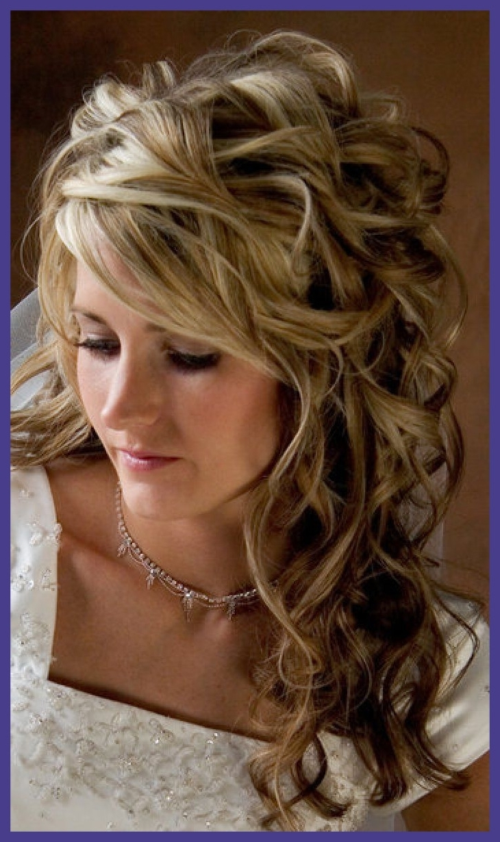 Best Side Ponytail Curly Half Up Wedding Hairstyles For Long Thick With Recent Curls To The Side Wedding Hairstyles (View 2 of 15)